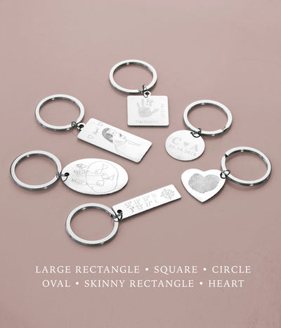 Key Chain with Baby's Heartbeat