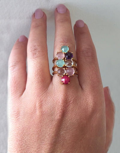 Mothers ring stackable - eight stone ring, mothers rings birthstones, valentines gift, gift for mom, gift for grandma ring, eight birthstone