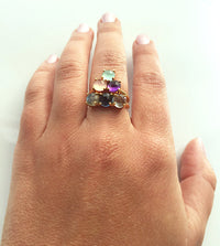 Custom Stacking Mother's Ring with Six Birthstones