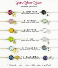 Personalized June Birthstone Necklace - Rainbow Moonstone