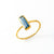 Tiny Kyanite Bar Ring : September Birthstone