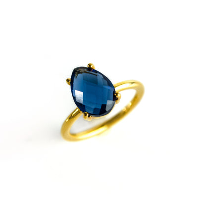 Kyanite Teardrop Ring - September Birthstone