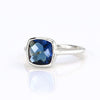 Kyanite Cushion Bezel Set Ring - September Birthstone
