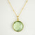 Faceted Round Green Amethyst bezel station Necklace - February Birthstone
