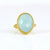Aqua Chalcedony Large Oval Ring - March Birthstone