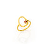 Yellow Gold Custom Birthstone Open Oval Ring