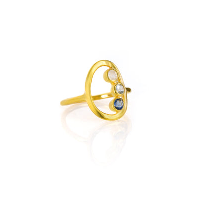 Triple Birthstone Mother's Ring