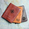 Personalized Leather Passport Holder with Monogram or Handwriting