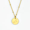 Leo Constellation Necklace with Monogram Engraving on Back