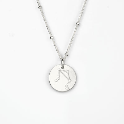 Libra Constellation Necklace with Monogram Engraving on Back