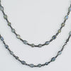 Labradorite long  station necklace