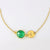 Personalized May Birthstone Necklace - Green Onyx