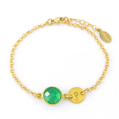 Personalized May Birthstone Bracelet