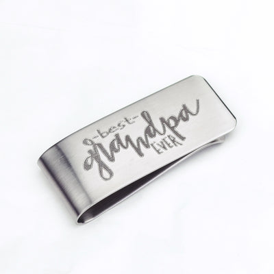 Custom Money Clip Personalized with Your Own Handwriting or Phrase