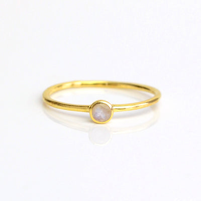 Dainty Stacking Moonstone Ring, June Birthstone