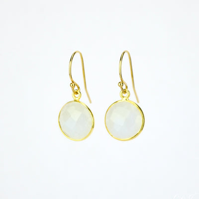 Rainbow Moonstone Earrings : June Birthstone