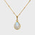 Moonstone bezel station Necklace - June Birthstone