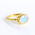 Oval Rainbow Moonstone Ring - June Birthstone
