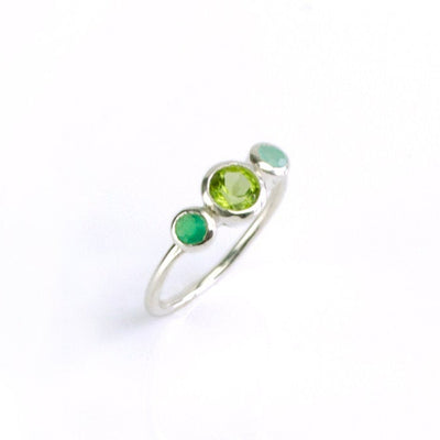 Custom Birthstone Ring for Mom of Two