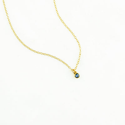 Tiny Birthstone Pendant Necklace : Available in All Birthstones