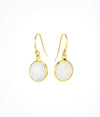 Opalite bezel set Earrings  - October Birthstone