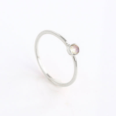 Dainty Stacking Opalite Ring - October Birthstone