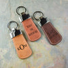 Personalized Paddle Leather Keychain