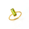 Tiny Peridot Bar Ring : August Birthstone