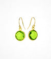 Peridot bezel set Earrings  - August Birthstone