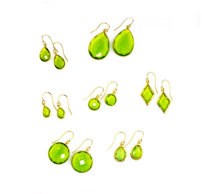 Peridot Earrings : August Birthstone
