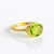 Oval Peridot Quartz Ring - August Birthstone