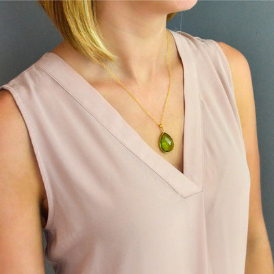 Pink Chalcedony Necklace : October Birthstone