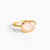 Oval Pink Chalcedony Ring : October Birthstone
