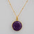 Faceted Round Purple Amethyst bezel station Necklace - February Birthstone