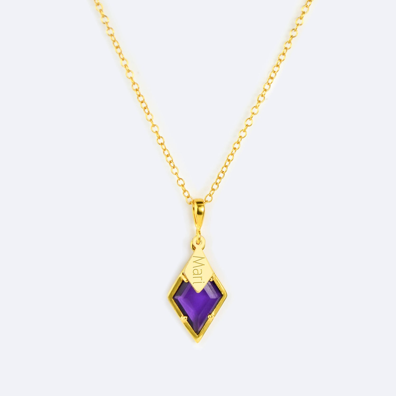 octagon y diamond and yellow ct amethyst with oct itm ijm chain pur gold pendant purple am