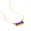 Purple Amethyst Bar Necklace : February Birthstone : Adira Series