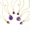 Purple Amethyst Necklace : February Birthstone