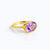 Oval Purple Amethyst Ring : February Birthstone