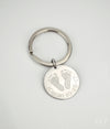Actual Footprint Key Chain, 25 mm disk