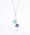 Round Birthstone Lariat Necklace