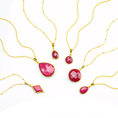 Ruby Necklace : July Birthstone