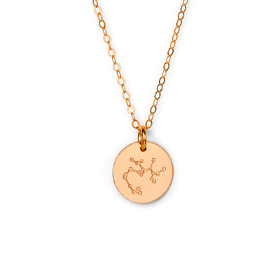 Sagittarius Constellation Necklace with Monogram Engraving on Back