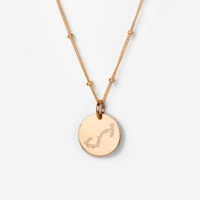 Scorpio Constellation Necklace with Monogram Engraving on Back