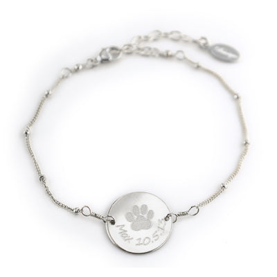 Personalized Pet Chain Bracelet, Custom Pet Jewelry