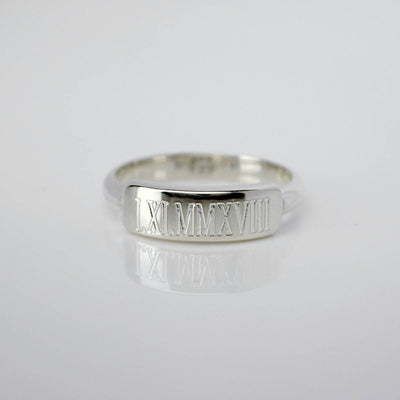 Custom Engraved Bar Ring