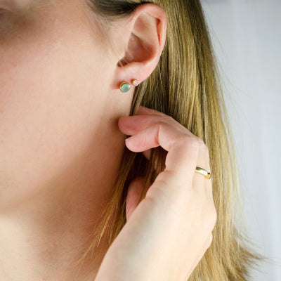 Tiny Stud Earrings : All Birthstones Available