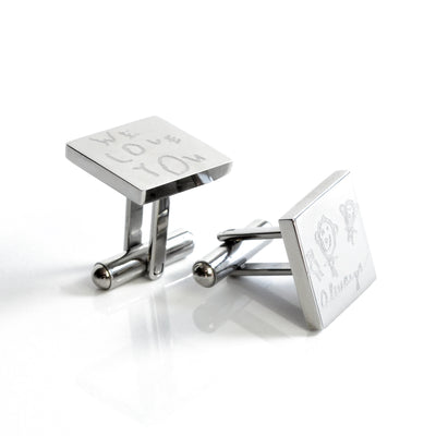 Personalized Metal Cufflinks with Monogram