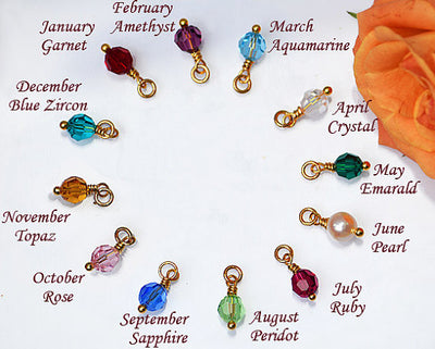 Personalized Custom birthstone charms Family Tree Necklace