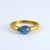 Kyanite teardrop cut ring - September Birthstone