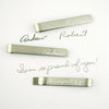 Actual handwriting Tie Bar